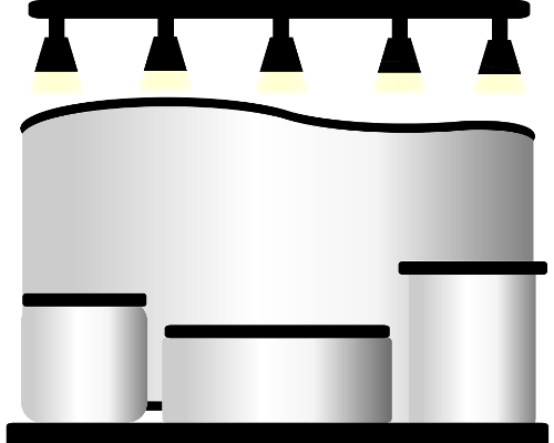 Projekty stanowisk targowych